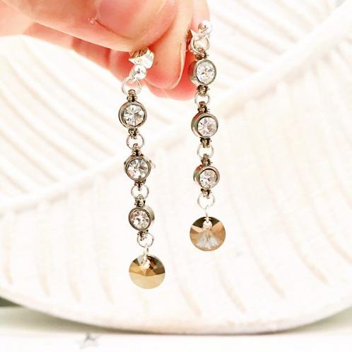 Crystal and Rhinestone 'Divine' Earrings