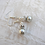 Thumbnail: Sterling Silver Pearl And Crystal Earrings