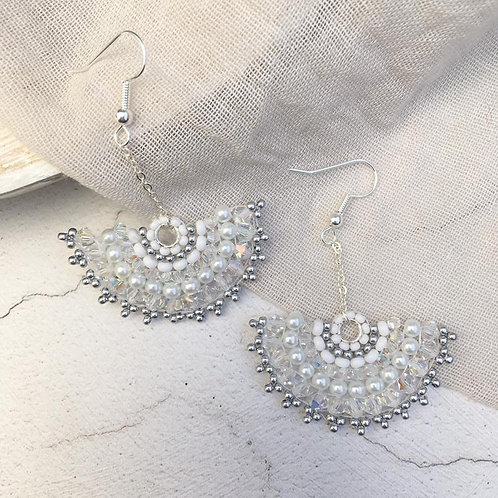 Vintage Art Deco Style Drop Earrings ~ Bebe