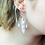 Thumbnail: Feather Dream Catcher Style Sterling Silver Earrings
