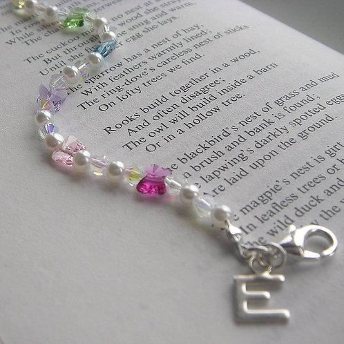 Personalised Rainbow Butterfly Bracelet