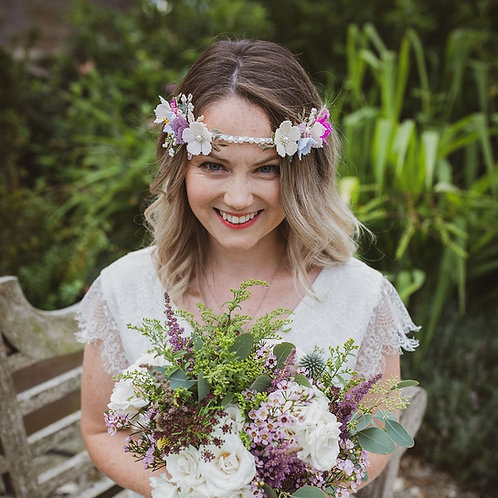 Handbeaded Floral Bridal Hairpiece