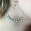 Thumbnail: Bohemian Crystal Silver Hoop Earrings