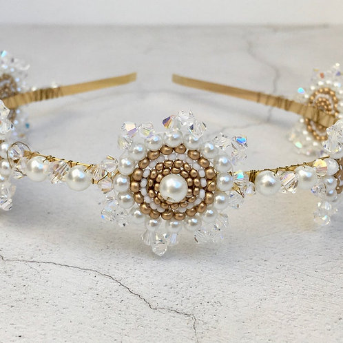 Vintage Art Deco Style Bridal Hairpiece ~ Garbo