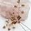 Thumbnail: Aurora Hand Beaded Crystal and Pearl Bridal Hairpin