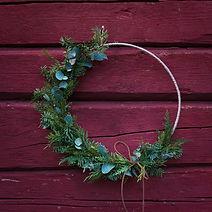 Floristgaraget minimalistisk julkrans 40