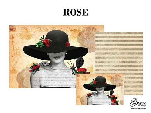 Rose (Grace on Design Decoupage) PREORDER-ships 2nd week in January