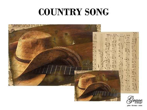 Country Song (Grace on Design Decoupage) PREORDER-ships 2nd week in January