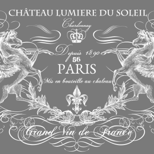"Chateau Lumiere (White)  34"" x 22"""