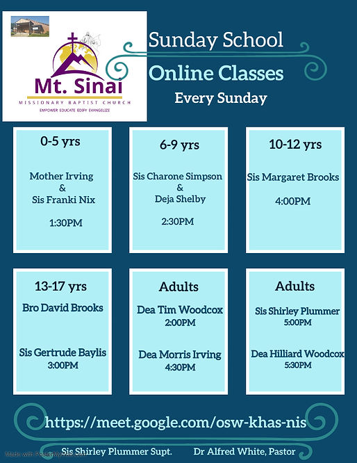 Copy of weekly class schedule - Made wit