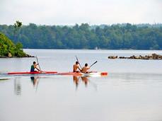 Kayak on Lake Charles