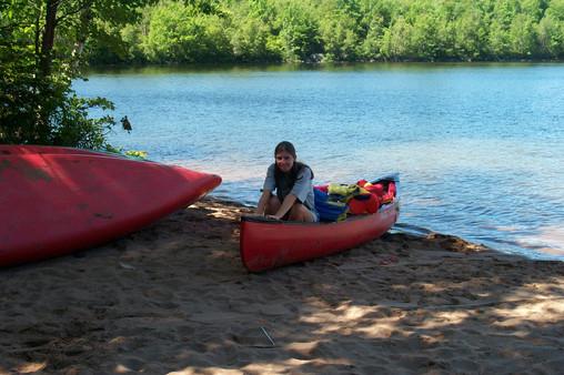 CANOEING ON LAKE CHARLES