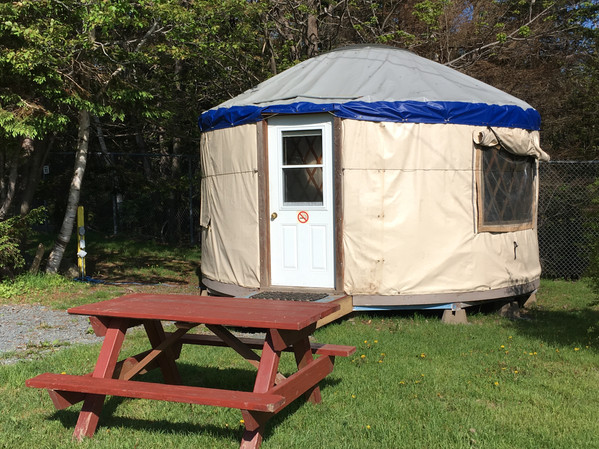 OUR REALLY COOL YURT!