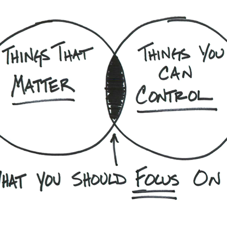 What You Can Control vs. What You Can't