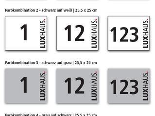 Hübsches Hausnummern Schild für ihr Luxhaus.