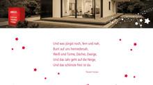 Luxhaus wünscht Frohe Weihnachten & einen Guten Rutsch ins Jahr 2018.