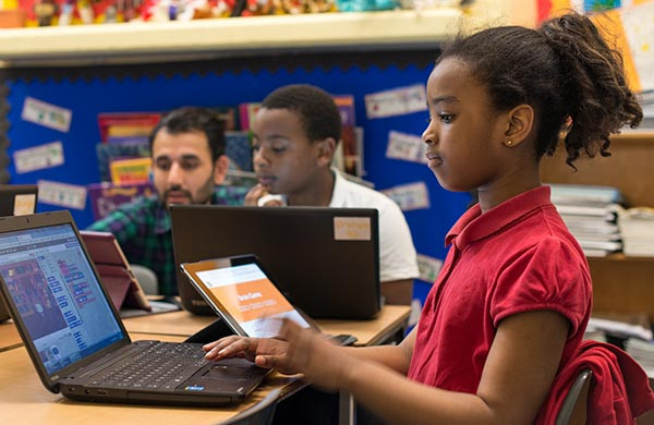 Image result for children doing  computer programming black children