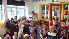 Dressing up is such fun. It's great to be back in the classroom.