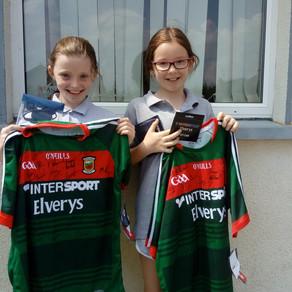 Signed Mayo GAA Football Jerseys Raffle