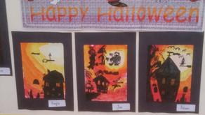 Halloween Art in Mrs. Kelly's this week