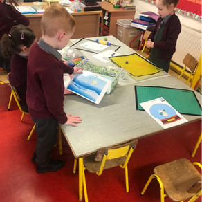 Senior infants very busy during play based learning