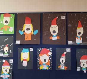 Christmas art Mr Byrne's class