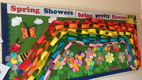 Spring is here! Senior Infants looking forward to springtime.