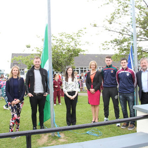 Our Green Flag Raising Ceremony