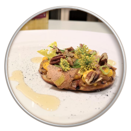 Tarte au Chasselas de Moissac et Foie gras du Sud Ouest