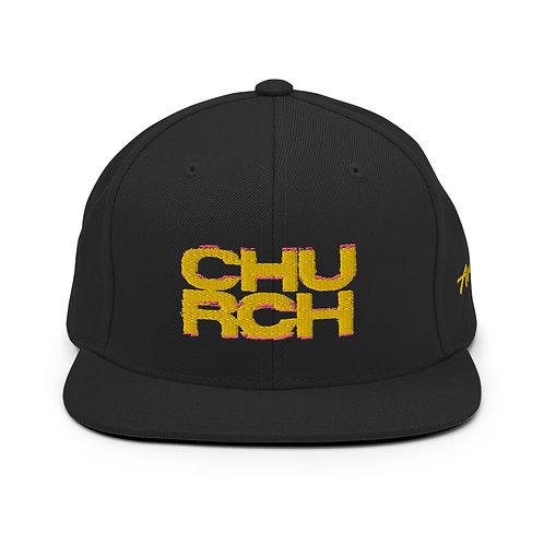 Gold On Black   Snapback Hat