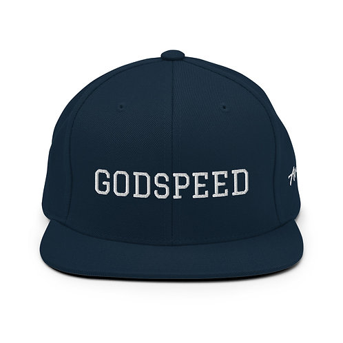 Dark Navy with White Lettering | GODSPEED Snapback Hat