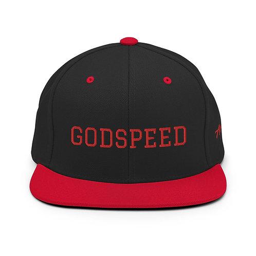 GODSPEED   Red Lettering Snapback Lids