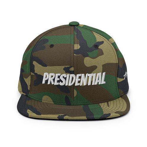 Green Camo Presidential Snapback Hat