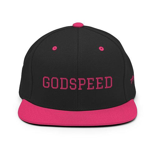 GODSPEED   PINK Lettering Snapback Lids