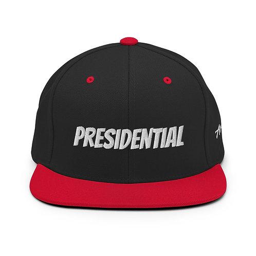 Black | Red Presidential Snapback Hat