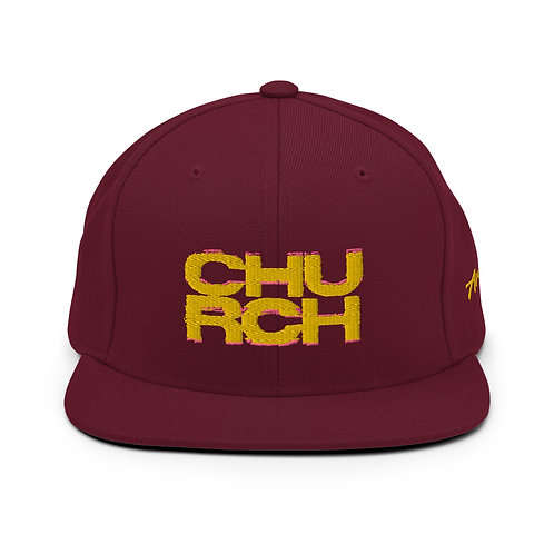Maroon   Church   Snapback Hat