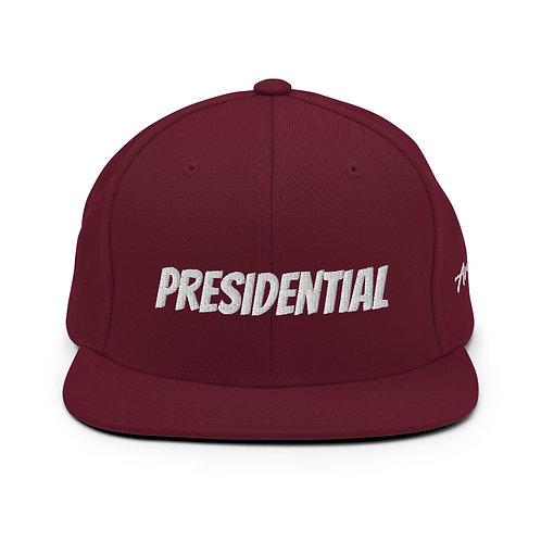 Maroon Presidential Snapback Hat