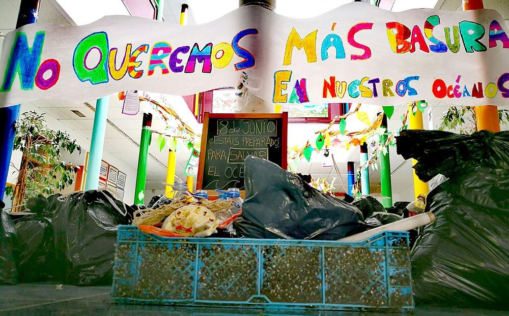 Actividad en el colegio CEIP Montaña Pelada. Foto: María Celmas