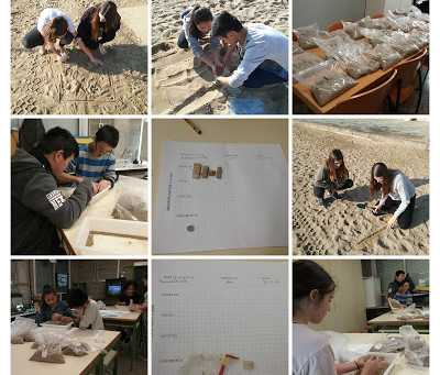 "L@s chic@s del Ins Fort Pius Medi Ambient se convierte en ""Observadores de la playa"""
