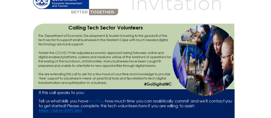 PGWC Calls all Tech Sector Volunteers! #Covid19-Response
