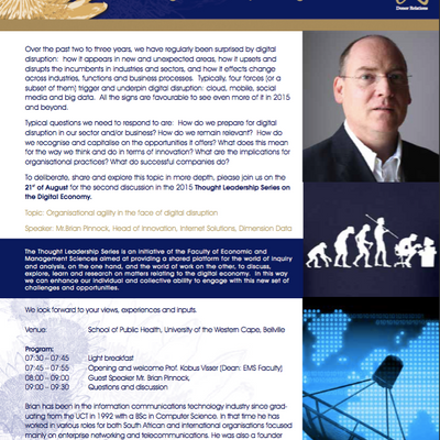 Thought Leadership Series on the Digital Economy (Aug '15): Organisational agility in the face o