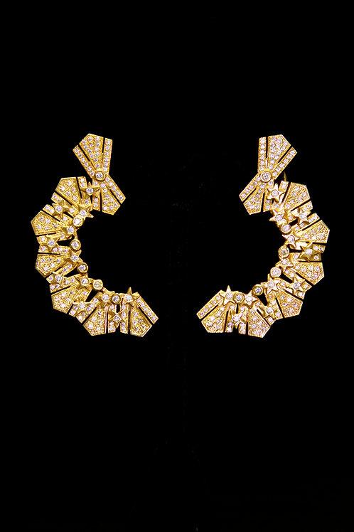 Sun and Stars Ear Cuff / Earrings
