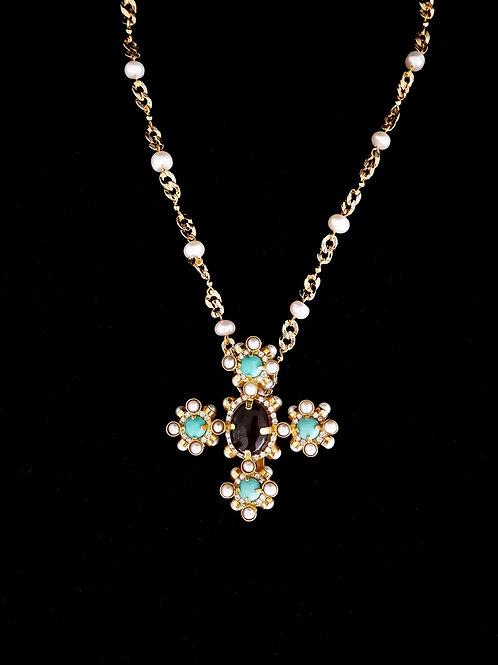 Amethyst Turquoise FP Renaissance Necklace