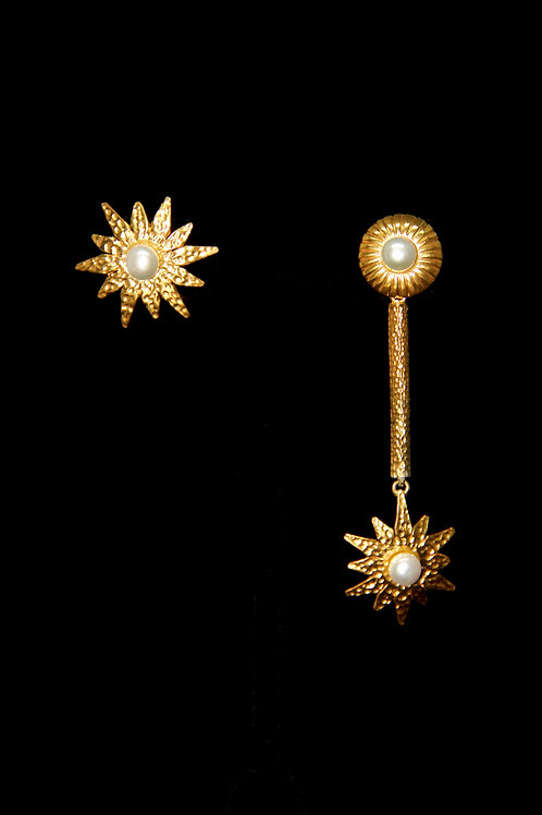 Sun and Star Earrings