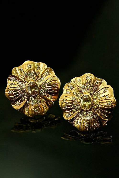 Citrine Floral Paradiso Earrings