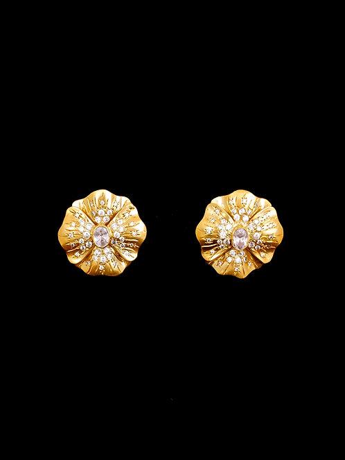 Floral CZ Earrings