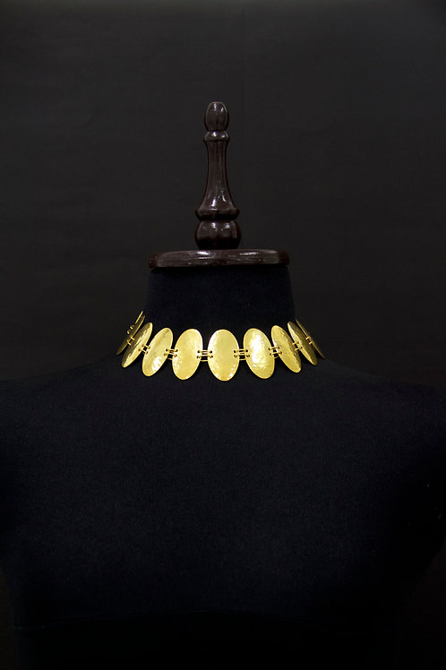 Gold Oval Chain Necklace