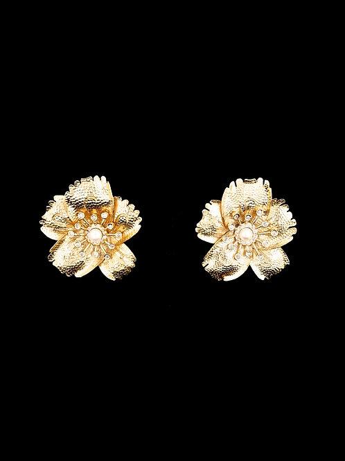 Gold FP Flora Stud Earrings