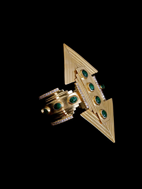 Malachite Art Deco Cuff