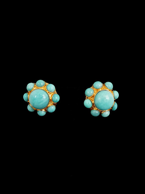 Amazonite Carousel Round Earrings